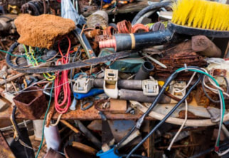 Photo of piled up junk